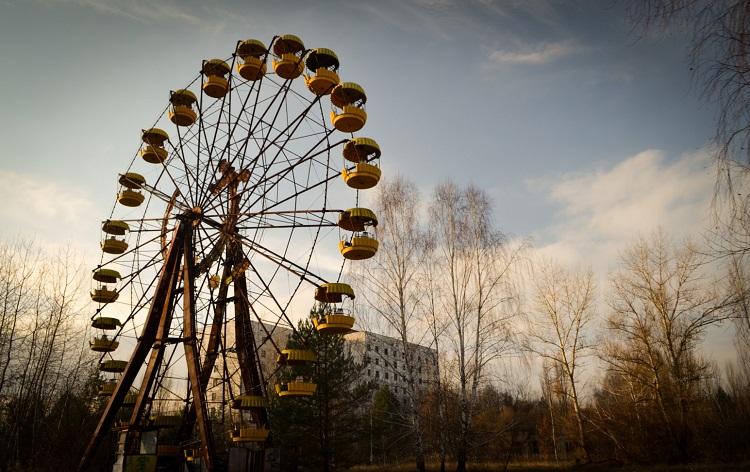Польские туристы запустили колесо обозрения уЧернобыльской АЭС